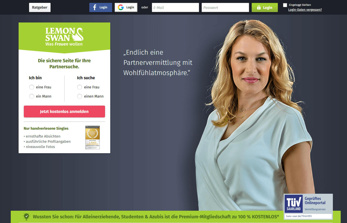 Lemonswan desktop Startseite
