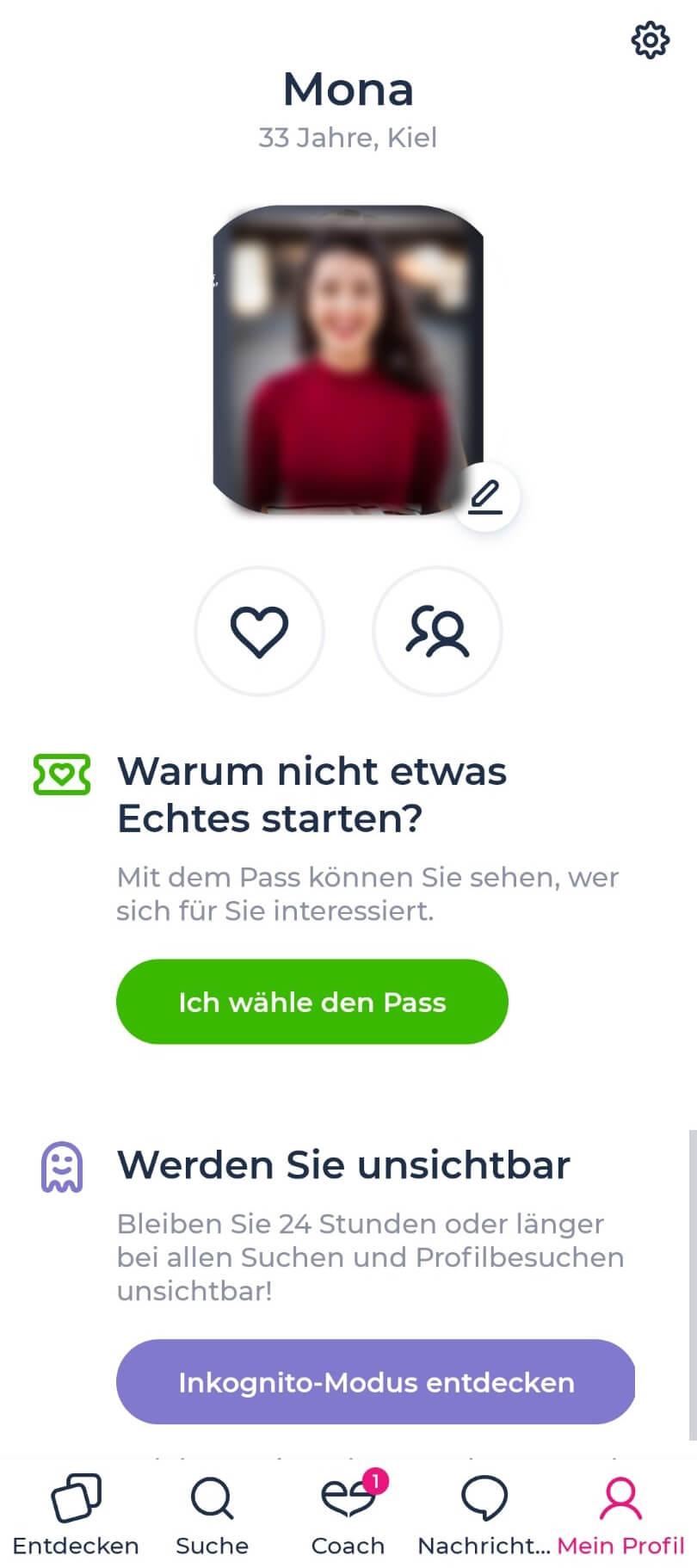 Lovescout24 App Ansicht Benutzer
