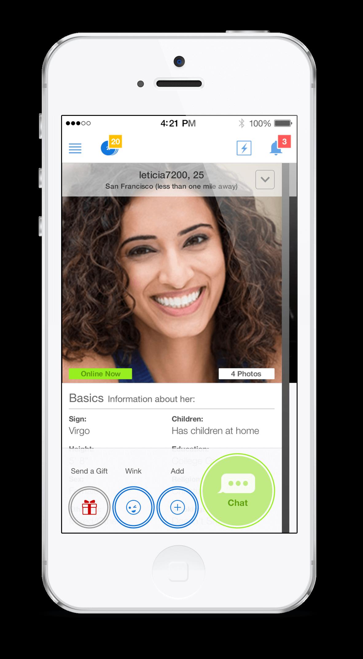 Zoosk Profil Ansicht App